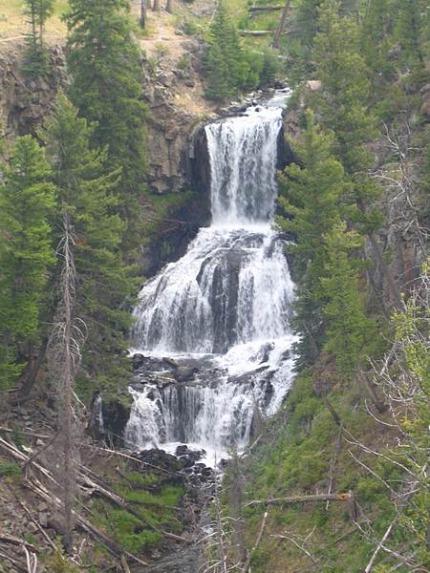 undine falls yellowstone national park wyoming etats-unis voyage aux usa en famille