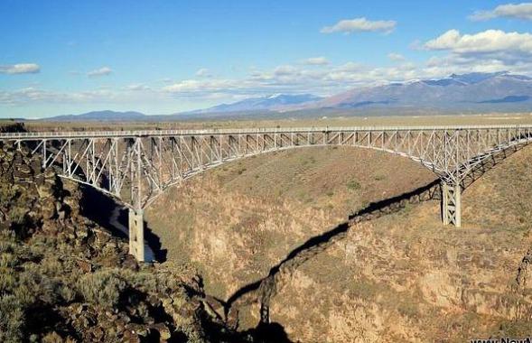 gorge bridge taos nouveau-mexique etats-unis voyage aux usa en famille