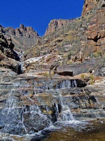 Seven Falls Trail à proximité de Tucson Arizona lors d'un voyage aux etats-unis en famille