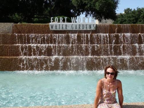 Fort Worth Water Gardens au Texas à voir lors d'un voyage aux Etats-Unis en famille