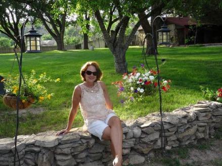 Joli jardin près d'Amarillo au Texas lors d'un voyage aux USA en famille
