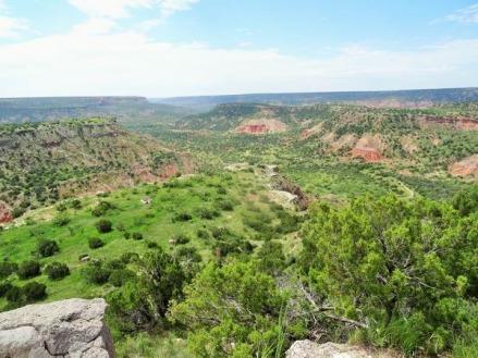 Entrée du Palo Duro Canyon State Park au Texas lors d'un voyage aux USA en famille