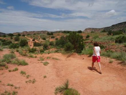 Plus d'ombre sur le Lighthouse Trail au Texas lors d'un voyage en famille aux USA