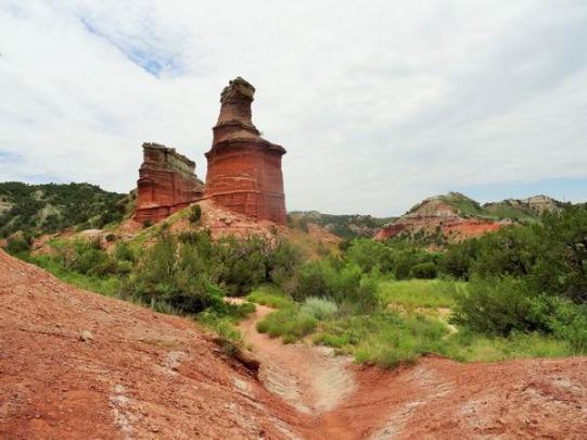 The Lighthouse dans le Palo Duro Canyon au Texas aperçu pendant un voyage aux USA en famille