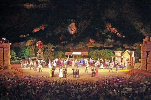 Le Texas Outdoor Musical dans le Palo Duro Canyon au Texas à voir pendant un voyage aux USA en famille