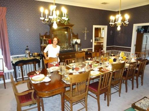 Lubbock Texas Etats-Unis salle de breakfast à prendre lors d'un voyage aux USA en famille