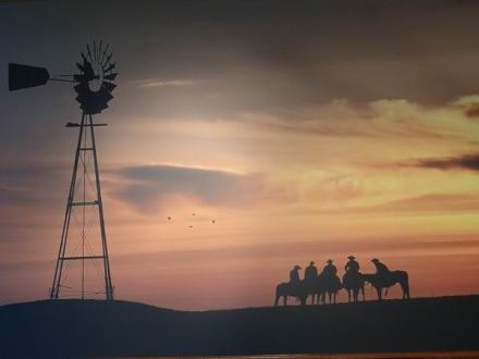 Tableau à voir au National Ranching Heritage Center à Lubbock lors d'un voyage en Amérique en famille