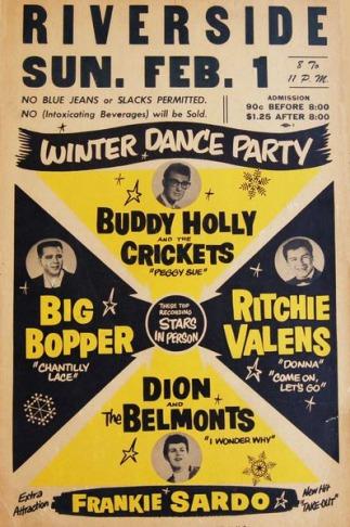 Winter Dance Party avec Buddy Holly en 1959 à découvrir pendant un voyage aux Etats-Unis en famille