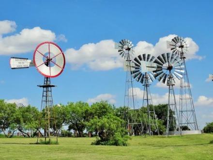 Windmill à Lubbock au Texas à voir pendant un voyage en Amérique en famille