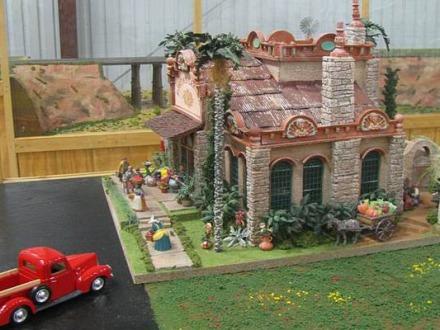 Maison miniature à l'American Wind Power Center à voir lors d'un voyage en Amerique en famille