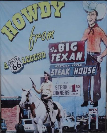 Le Big Texan Amarillo au Texas sur la route 66 à découvrir lors d'un voyage aux USA en famille
