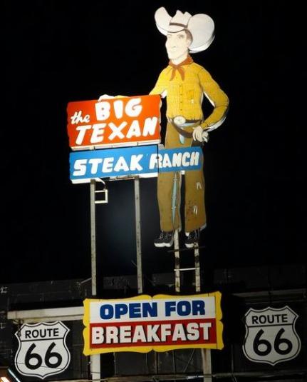 Le Big Texan au Texas à visiter pendant un voyage aux Etats-Unis en famille
