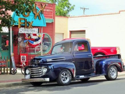 a route 66 à Amarillo découverte lors d'un voyage aux Etats-Unis en famille