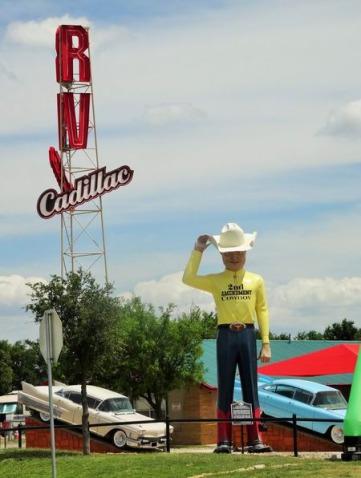 Route 66 au Texas à voir pendant un voyage en famille en Amérique