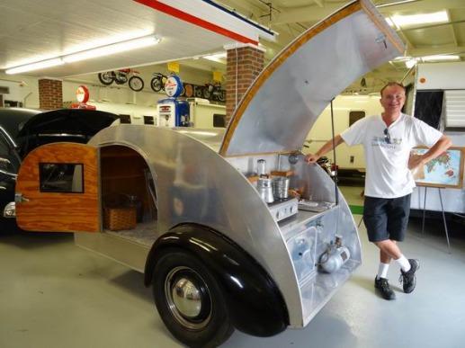 caravane vintage à Amarillo à découvrir pendant un voyage aux USA en famille