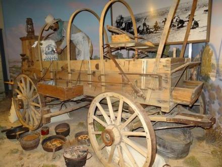 Un chariot de pionnier au Panhandle Plains Historical Museum à voir lors d'un voyage aux USA en famille