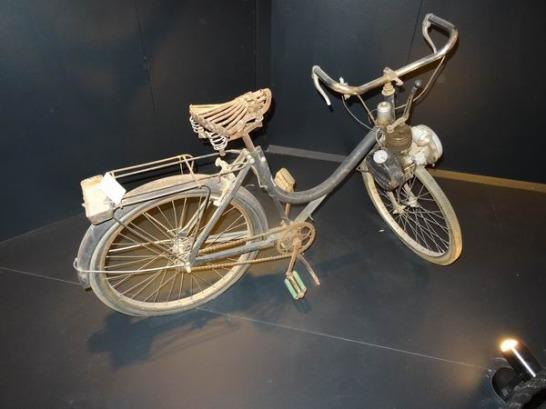 Un vélo Solex au Texas à voir pendant un voyage aux Etats-Unis en famille