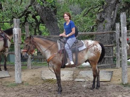 A cheval à bandera au Texas lors d'un voyage aux USA en famille