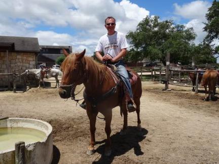 Riding à bandera au Texas pendant un voyage aux Etats-Unis en famille