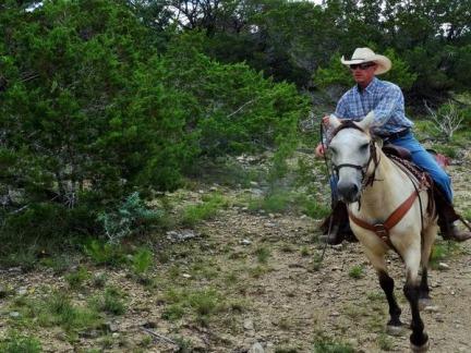 Cowboy à Bandera vu au cours d'un voyage aux USA en famille