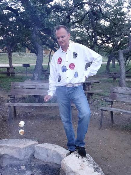 griller des marshmallows au cours d'un voyage aux Etats-Unis en famille