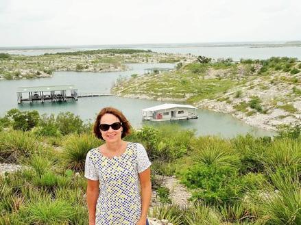 balade sur le lac Amistad à Del Rio au Texas pendant un voyage aux Etats-Unis en famille