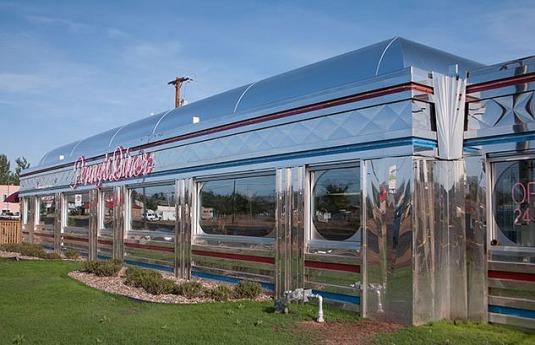 Le Penny's diner à Alpine Texas pour dîner au cours d'un voyage aux Etats-Unis en famille