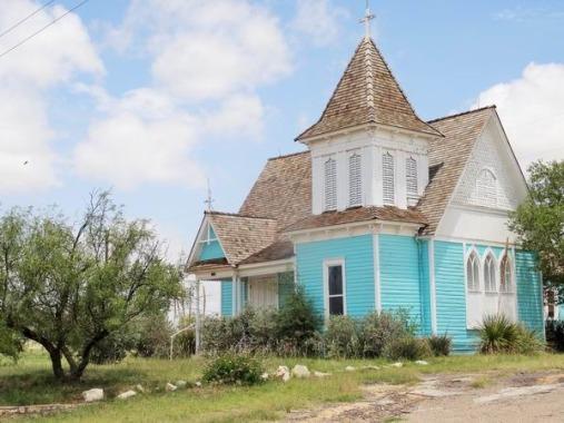 Ancienne église à Fort Stockton au Texas à découvrir au cours d'un voyage aux USA en famille