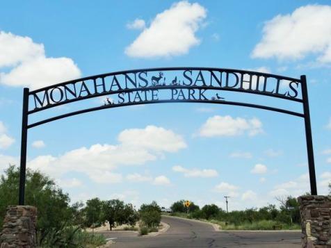 Monahans Sandhills State Park au Texas pour se détendre au cours d'un voyage en Amérique en famille