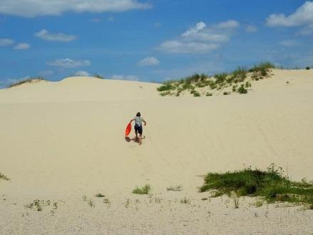les dunes du monhahans sandhills state park au texas à gravir au cours d'un voyage aux USA en famille