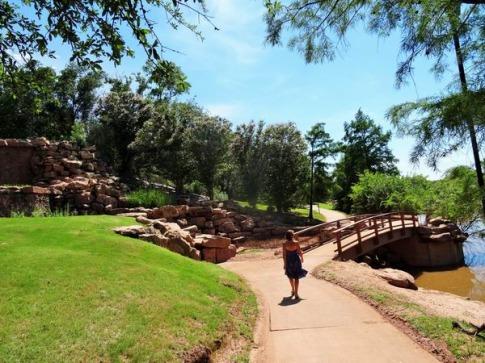 lucy park à wichita falls au Texas à découvrir lors d'un voyage aux Etats-Unis en famille