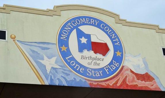 Le comté de Montgomery lieu de naissance du drapeau Texan à voir lors d'un voyage aux USA en famille
