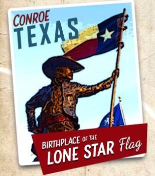 Conroe lieu de naissance du drapeau Texan à découvrir lors d'un voyage aux Etats-Unis en famille