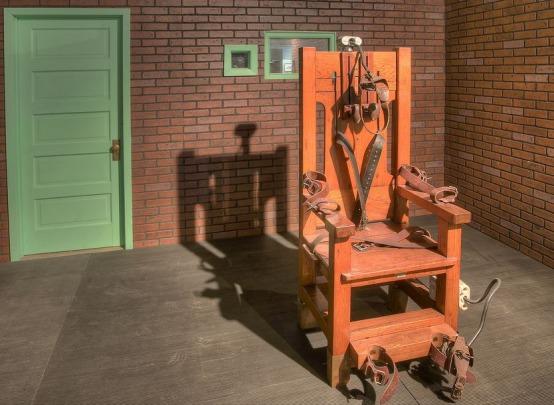 Old Sparky la chaise électrique exposée au Texas Prison Museum à voir au cours d'un voyage en amérique en famille