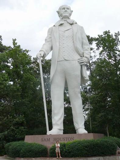 Giant Statue Of Sam Houston à voir à Huntsville au cours d'un voyage aux USA en famille