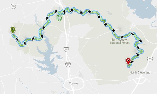 Lone Star Trail pour randonner au cours d'un voyage aux usa en famille