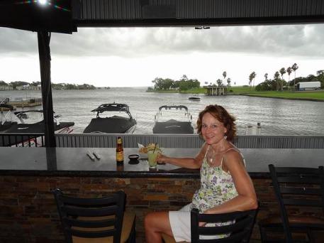 orage sur le lac Conroe lors d'un voyage aux USA en famille