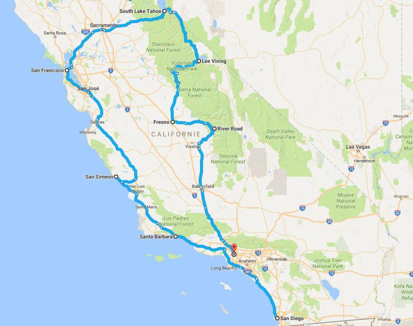 Un tour de 3 semaines en californie pour un voyage aux USA en famille
