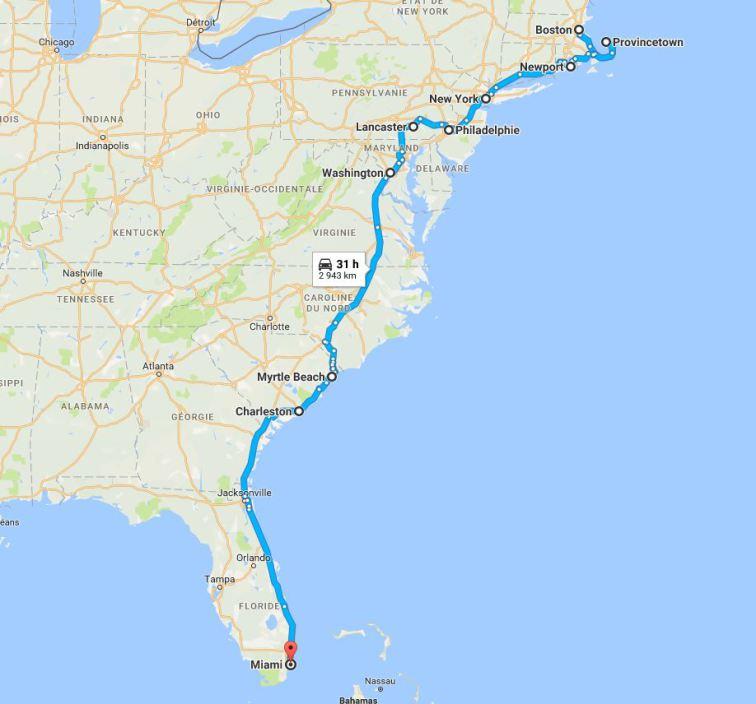 La côte Est du Nord au Sud en 4 semaines en voyage aux USA en famille