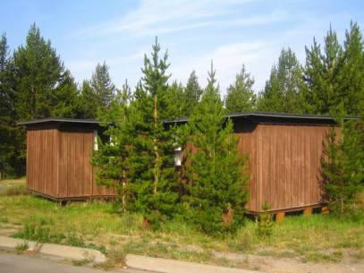 Cabins à Yellowstone au wyoming aux etats-unis où loger lors d'un voyage aux usa en famille