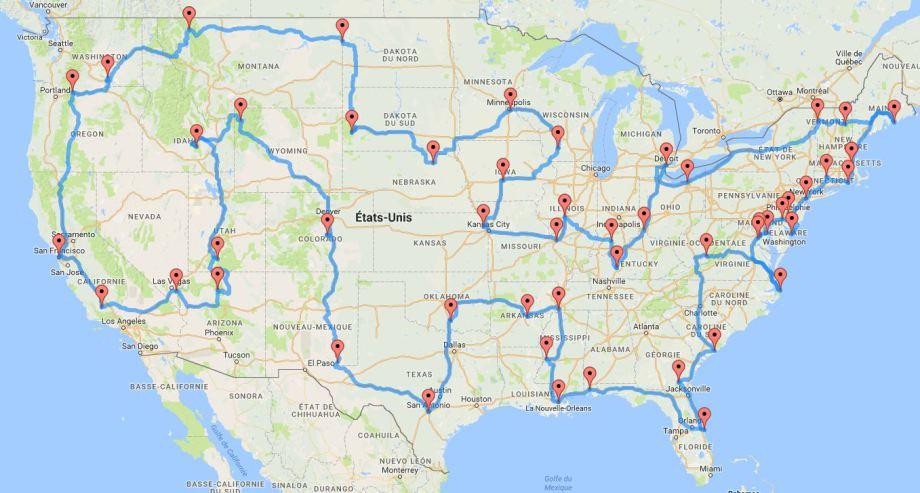 Le Road Trip idéal calculé par ordinateur pour un voyage aux USA en famille