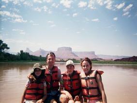 descente du colorado en utah lors d'un voyage en famille aux Etats-Unis