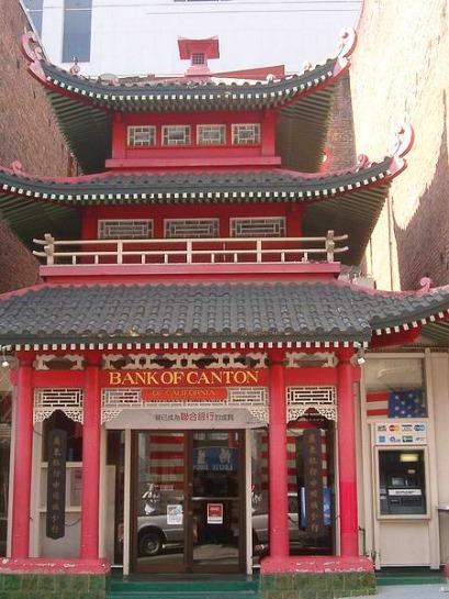 Bank of Canton à San Francisco en californie aux USA à visiter pendant un voyage en amérique en famille