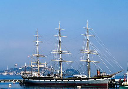 Vue sur San Francisco Maritime National Historical Park en californie aux usa à visiter lors d'un voyage aux etats-unis en famille