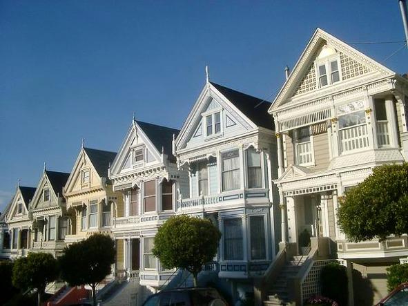 Painted Ladies à San Francisco en californie aux usa à visiter lors d'un voyage aux etats-unis en famille