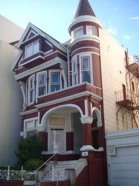 Maisons victoriennes à San Francisco en californie aux usa à visiter lors d'un voyage aux etats-unis en famille