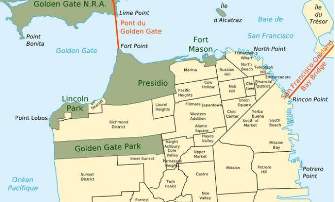 Les quartiers Nord de San Francisco en Californie au Etats-Unis à visiter pendant un voyage aux USA en famille