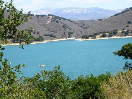 Lac de Santa Barbara en californie aux Etats-Unis à voir lors d'un voyage aux USA en famille