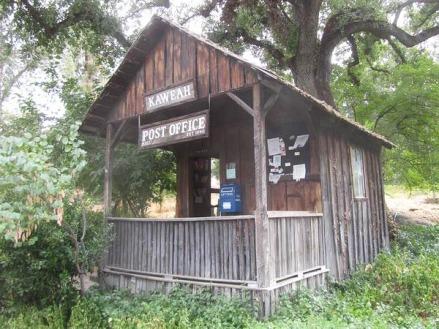 Post Office 1910 à Three Rivers en Californie en Amérique à découvrir lors d'un voyage aux USA en famille