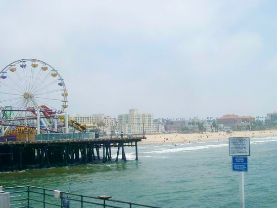 Santa Monica à los angeles en californie aux etats-unis à voir lors d'un voyage aux usa en famille